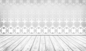 Tapetdesign - silver damask