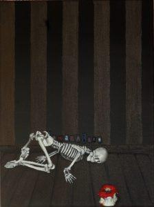 """Titel: """"Langtidsholdbar"""" 30x40 cm. Kan ses i atelieret efter aftale"""