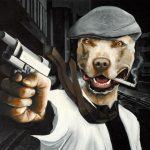 Mad Dog, 40x60 cm. Ikke til salg