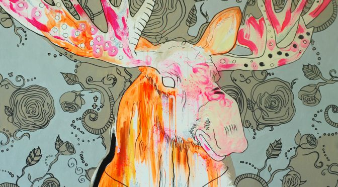 Pæn Heavy Mædl Moose gror horn. 1 x 1 m. 5500 kr.