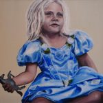 Den lille prinsesse, 40x40 cm. Ikke til salg